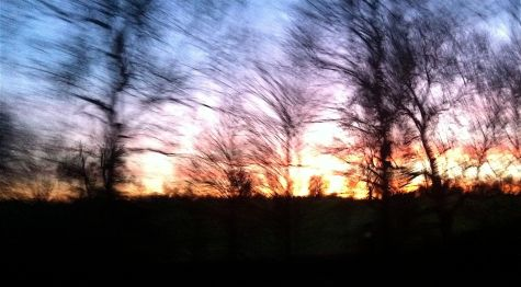 January Hertfordshire sunset