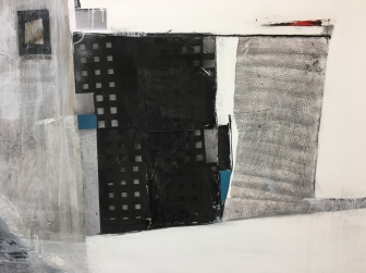 "Urban-Impossible Landscapes Series Mixed Media 39"" x 59"""