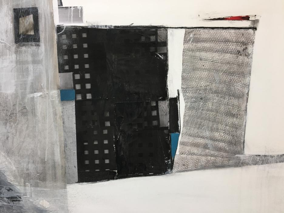 "Urban-Impossible Landscapes Series Mixed Media 39"" x 59"""