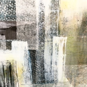 """Detail :Abstracted Landscape. Mixed Media, 24""""x36"""""""