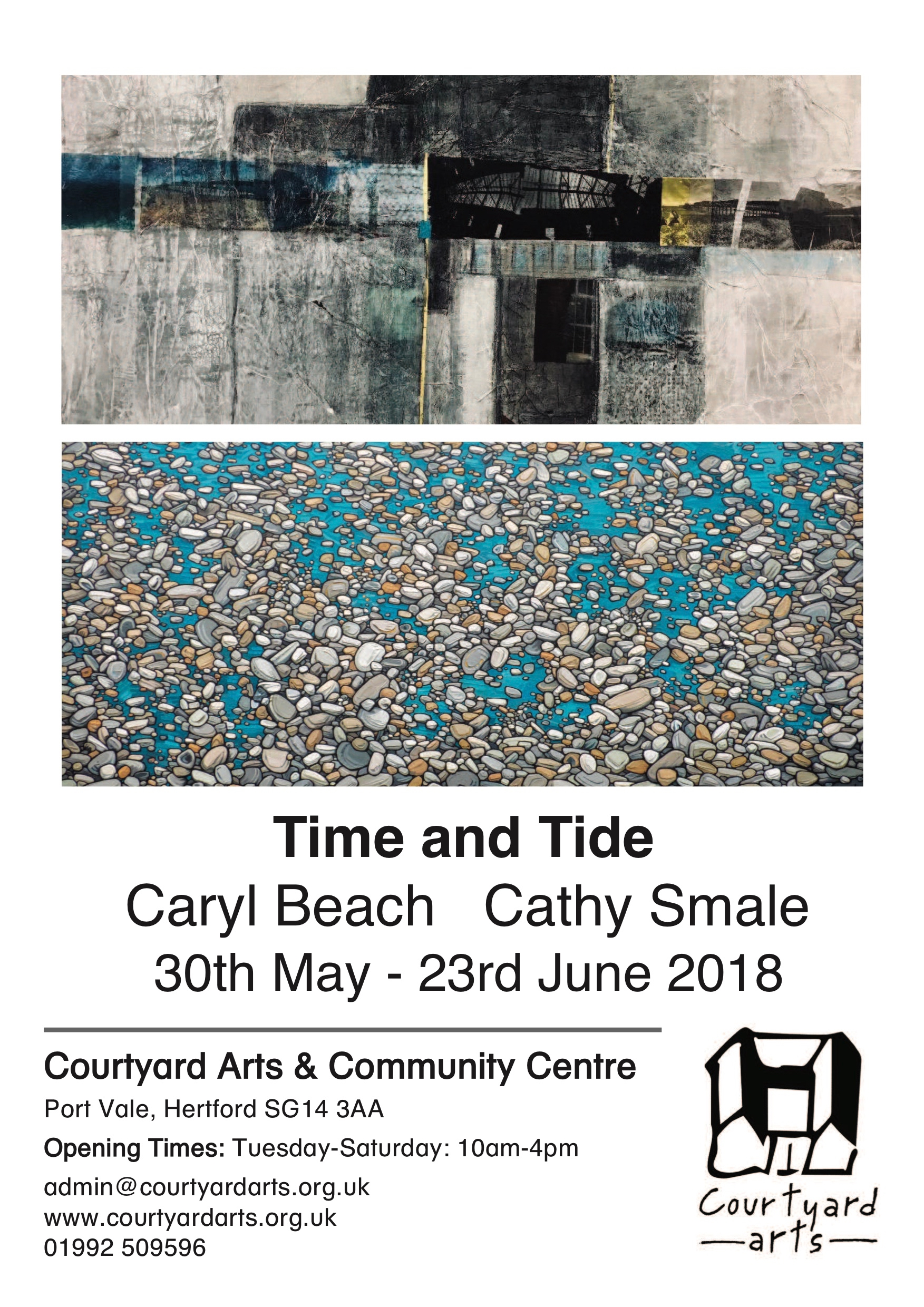 Time and Tide – Exhibition with Caryl Beach and Cathy Smale- Save the date.