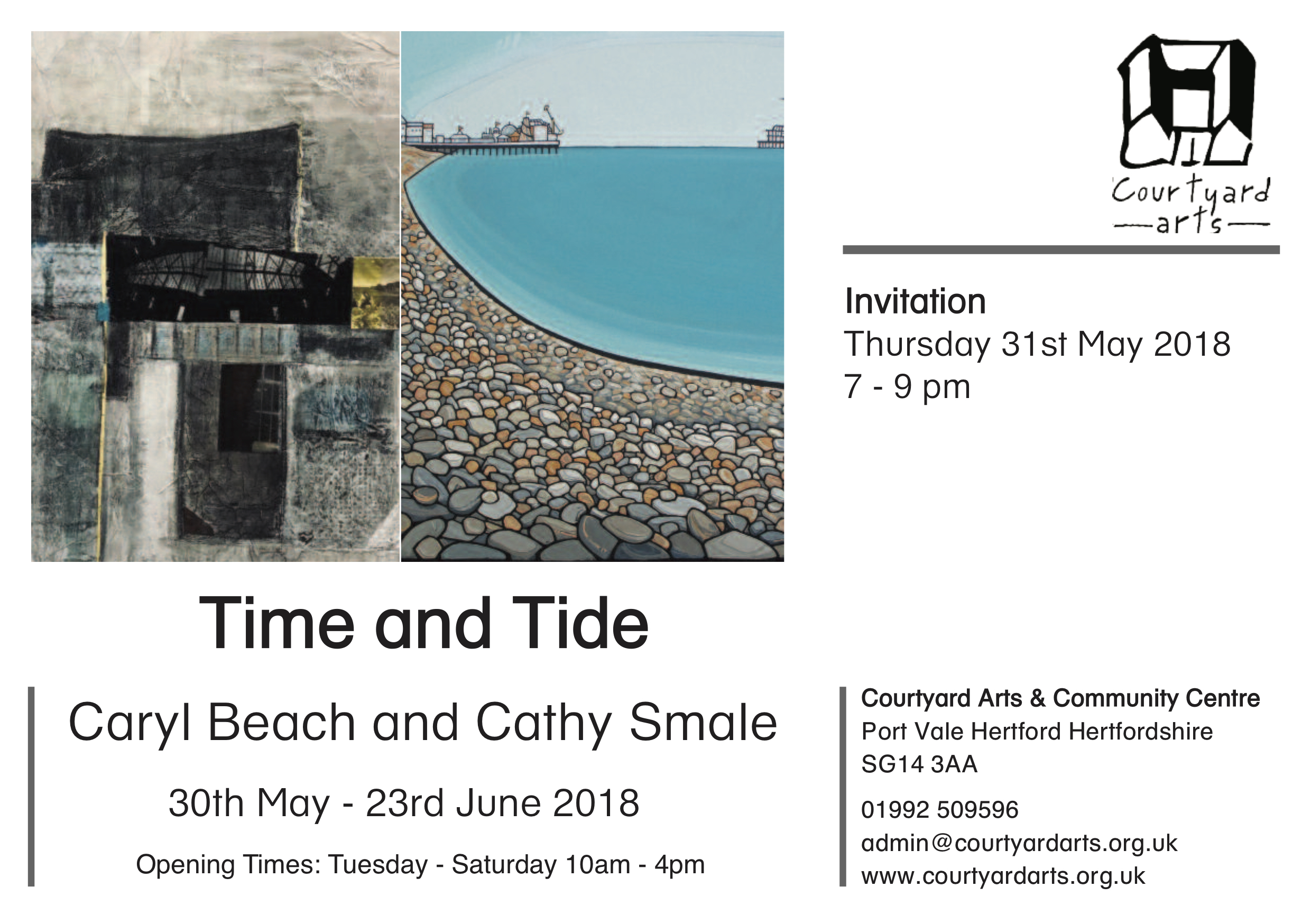 Time and Tide at Courtyard Arts Continues…..