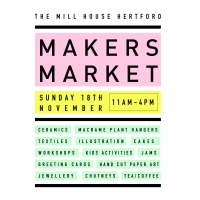 Makers Market on Sunday 18/11/18