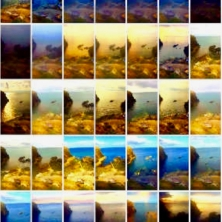 stills taken from time lapse II video.